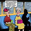 Cartoon: Manners (small) by toons tagged etiquette,manners,smartphone,public,transport,old,vs,young,staring,at,phone