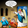 Cartoon: Mary and Joseph (small) by toons tagged immaculate,conception,archangel,gabriel,christmas,mary,and,joseph,babies,gender,birth,of,jesus,spoiler,alert