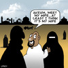 Cartoon: Meet the wife (small) by toons tagged burka,burqa,arab,muslim,islam,wife,marriage,temple,relationships