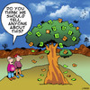 Cartoon: Money on trees (small) by toons tagged money,cash,euros,trees,savings