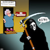 Cartoon: No Hoodies (small) by toons tagged angel,of,death,retirement,homes,hoodies,fashion,banned