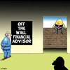 Cartoon: off the wall (small) by toons tagged business,financial,advisor,banks,money,advice,humpty,dumty,commerce,off,the,wall