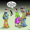Cartoon: Old Hippies (small) by toons tagged marijuana,cannabis,hippies,roll,joint,knee,replacement,ankle,reconstruction,sixties,recreational,drugs,zimmer,frame,walking,stick