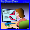 Cartoon: Online shopping (small) by toons tagged customers,who,bought,this,online,shopper,retail,ladies,shoes