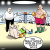 Cartoon: people skills (small) by toons tagged boxing,sport,people,skills,relationships,olympics,referee,ring