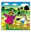 Cartoon: phone your scarecrow (small) by toons tagged phones farming scarecrow