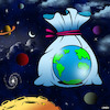 Cartoon: Plastic planet (small) by toons tagged plastic,bags,environment,plastics,in,ocean,global,warming,planet,earth