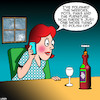 Cartoon: Polishing (small) by toons tagged housework,polishing,wine,housewife,cleaning