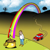 Cartoon: pot of gold (small) by toons tagged rainbows,pot,gold