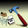 Cartoon: Restraining order (small) by toons tagged hammer,and,nails,restraining,order,tools