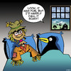 Cartoon: Scarecrow not so scary (small) by toons tagged scarecrow,crows,birds,farms