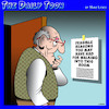 Cartoon: Seniors moment (small) by toons tagged seniors,ageing,pensioners,making,lists,moment,forgetful,absent,minded