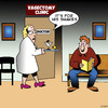 Cartoon: Shakes (small) by toons tagged vasectomy,martini,the,shakes,doctors,surgery,alcoholism