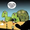 Cartoon: She got the house (small) by toons tagged tortoise,turtles,animals,divorce,settlement