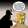 Cartoon: Sick Gingerbread man (small) by toons tagged gingerbread,man,health,trans,fats,diabetes,obese,cholesterol,pastry,cakes,gingivitis,dentist