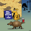 Cartoon: Sniff for food (small) by toons tagged dogs,begging,unhygienic,food,broke,poor,dog,habits