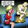 Cartoon: Strong silent type (small) by toons tagged the,thinker,strong,silent,type,new,boyfriend,statue,sculpture