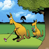 Cartoon: The caddy (small) by toons tagged kangaroos,caddy,australia,golf,cart