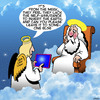 Cartoon: The meek shall inherit the earth (small) by toons tagged self,assurance,meek,angels,bible,stories,introverted