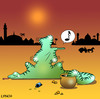 Cartoon: the music critic (small) by toons tagged snake,charmer,reptiles,flute,music,critic,india