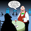 Cartoon: Toothpick (small) by toons tagged toothpicks,waiter,hygene,dinner,restaurants,cafe,after