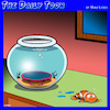 Cartoon: Trampoline (small) by toons tagged clown,fish,trampoline,tank,exercise