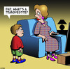 Cartoon: Transvestite (small) by toons tagged cross,dresser,transvestite,gay,homosexual,fatherhood