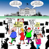Cartoon: Trump cartoonists (small) by toons tagged cartoonists,trump,supporters,protests