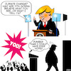 Cartoon: Trump supporters (small) by toons tagged donald,trump,climate,change,global,warming,speeches