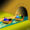 Cartoon: tunnel of love (small) by toons tagged lawyers,tunnel,of,love,divorce,relationships