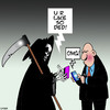 Cartoon: U R Dead (small) by toons tagged angel,of,death,texting,omg,sms,messaging