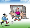 Cartoon: Unfair advantage (small) by toons tagged football,world,cup,goalie,game