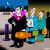 Cartoon: vampires briefcase (small) by toons tagged vampires,undead,twighlight,coffin