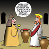 Cartoon: Water into wine (small) by toons tagged bar,mitzvah,water,into,wine,miracles,parties,birthdays
