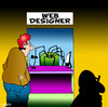 Cartoon: Web designer (small) by toons tagged web design www website communications spiders spiderweb internet computers google online server