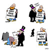 Cartoon: what price dignity (small) by toons tagged dignity,begging,money,signs,advertising