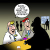 Cartoon: What the doctor ordered (small) by toons tagged doctor,alcohol,cocktails,medical,bars,drinking,beer