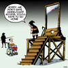 Cartoon: Wheelchair access (small) by toons tagged guillotine,wheelchair,access,disabled,executioner,gallows