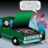 Cartoon: Whining husband (small) by toons tagged complaining,whining,car,repairs,mechanic