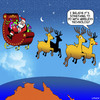 Cartoon: Wireless technology (small) by toons tagged christmas,xmas,santa,wireless,technology,santas,reindeers,australia,texting,while,driving