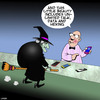 Cartoon: witch phone (small) by toons tagged witches,smartphone,unlimited,data,myths,phone,sales,technology