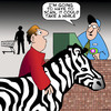 Cartoon: Zebra scan (small) by toons tagged zebra,supermarket,scanning,african,animals,trolley,products