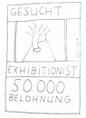 Cartoon: Exhibitionist (small) by Müller tagged wanted,exhibitionist,steckbrief