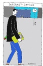 Cartoon: Internet-Dating (small) by Müller tagged internet,dating,date,single,flirt,meeting