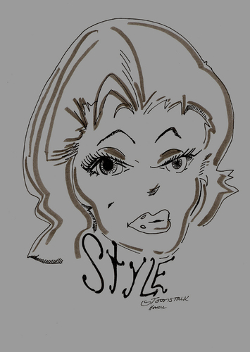 Cartoon: STYLE POSTER (medium) by Toonstalk tagged big,eyed,blonde,style,1950