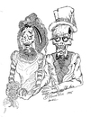 Cartoon: TIL DEATH DO US PART (small) by Toonstalk tagged bride,groom,love,forever,sexy,marriage
