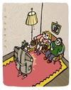 Cartoon: Exhibi 2 (small) by schwoe tagged exhibitionismus,schamlos,tv,fernsehen,publikum,langeweile