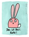 Cartoon: Hasi 1 (small) by schwoe tagged hase,ohren,süß,rosa,augen