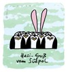Cartoon: Hasi 32 (small) by schwoe tagged hasi,hase,südpol,ohren,pinguin,eis,kalt