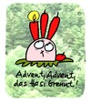 Cartoon: Hasi 83 (small) by schwoe tagged hasi,hase,advent,weihnacht,kerzen,licht